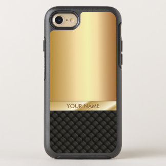 Luxury Black & Gold Name Elegant OtterBox Symmetry iPhone 8/7 Case