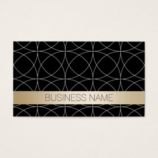 Luxury Black & Gold Nanny Business Card