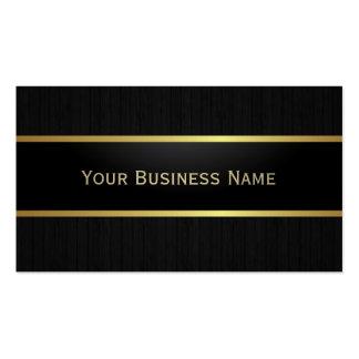 Luxury Black Metal Belt Dark Wood Business Card