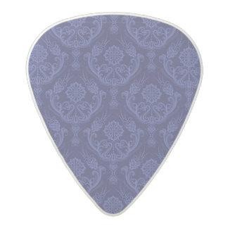 Luxury blue floral damask wallpaper acetal guitar pick