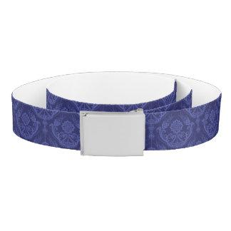 Luxury blue floral damask wallpaper belt