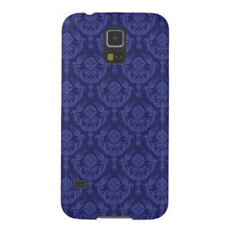 Luxury blue floral damask wallpaper galaxy s5 cases