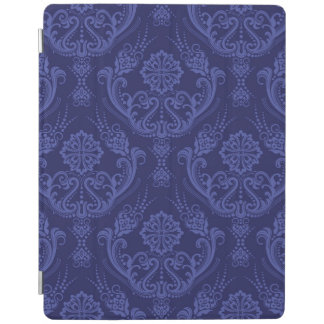 Luxury blue floral damask wallpaper iPad cover