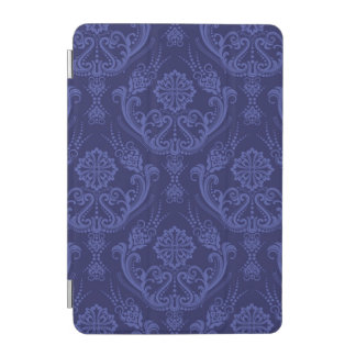 Luxury blue floral damask wallpaper iPad mini cover
