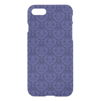 Luxury blue floral damask wallpaper iPhone 8/7 case
