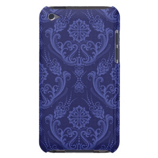Luxury blue floral damask wallpaper iPod touch Case-Mate case