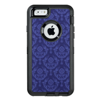 Luxury blue floral damask wallpaper OtterBox defender iPhone case