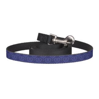 Luxury blue floral damask wallpaper pet leash
