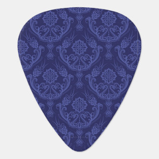 Luxury blue floral damask wallpaper plectrum
