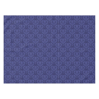 Luxury blue floral damask wallpaper tablecloth