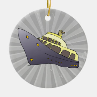luxury boat christmas ornament