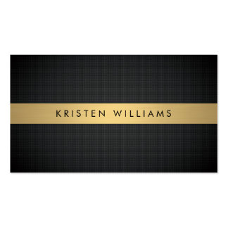Luxury Boutique Gold Bar on Textured Black Bkgrd Pack Of Standard Business Cards