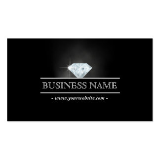 Luxury Bright Diamond Jewelry Business Card