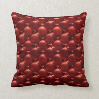 Luxury Burgundy Maroon Red Tufted Leather Opulent Cushion