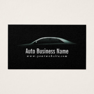 Luxury Car Outline Auto Business Card