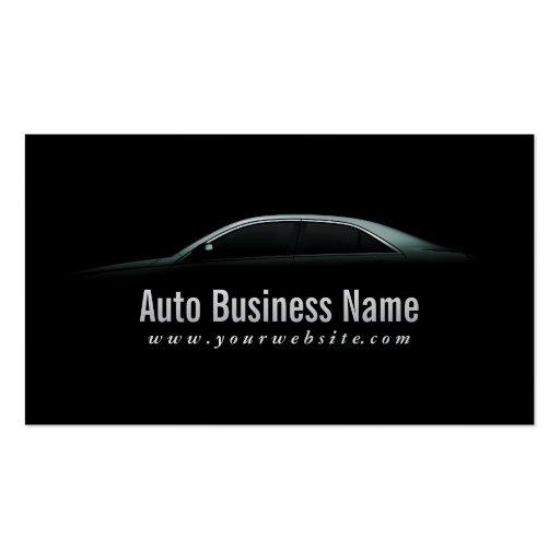 Luxury Car Outline Auto Business Card