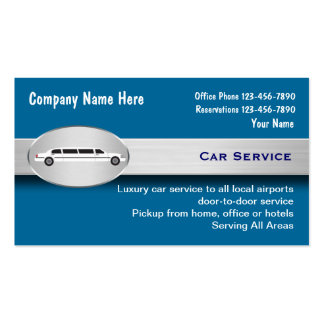 Luxury Car Service Taxi Business Cards