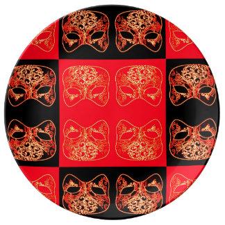 Luxury Chinese Mask Decorative Plate Wall Art