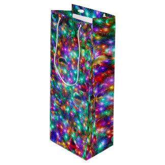 Luxury Christmas Sparkling Stars Wine Gift Bag