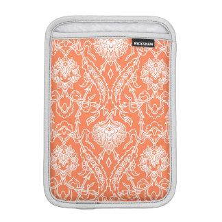 Luxury Coral and White Damask Pattern Decorative iPad Mini Sleeve