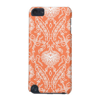 Luxury Coral and White Damask Pattern Decorative iPod Touch 5G Cover