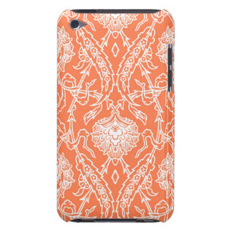 Luxury Coral and White Damask Pattern Decorative iPod Touch Case