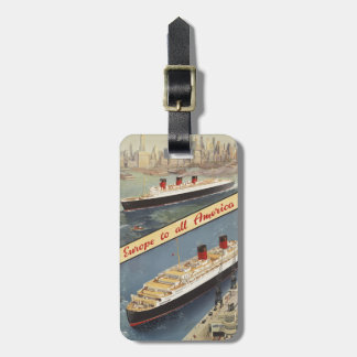 Luxury Cruises Travel Europe to all America Luggage Tag