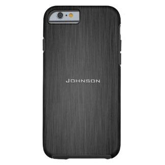 Luxury Dark Black Rosewood Pattern Custom Monogram Tough iPhone 6 Case