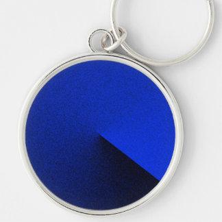 Luxury Dark Blue Silver Plated Keychain