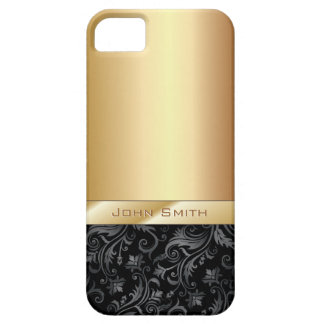 Luxury Dark Floral Gold Metallic iPhone 5 Case