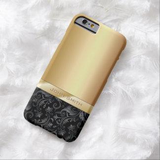 Luxury Dark Floral Gold Metallic iPhone 6 Case
