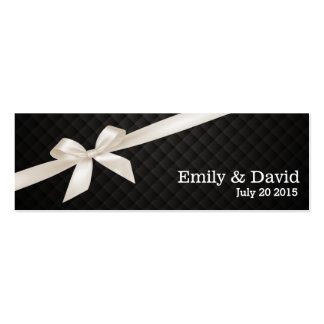 Luxury Dark Ribbon Wedding Website Insert Card Business Card Templates