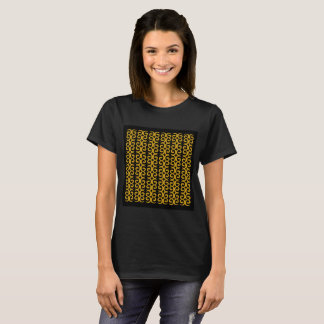 Luxury designers girls Tshirt : MOROCCO GOLD BLACK