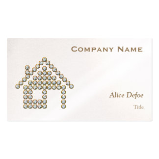 Luxury Diamond Home Real Estate Business Card