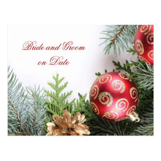 Luxury Elegant Christmas Winter Save date card