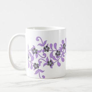 Luxury Elegant Purple Spring Floral Mug Mugs