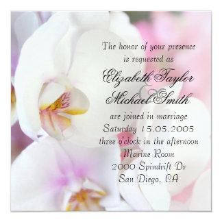 Luxury Elegant White Orchid Wedding Invite