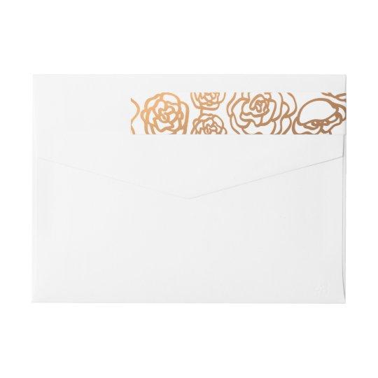 Luxury Faux Gold Foil Floral Wedding Modern Wrap