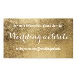 Luxury faux gold leaf wedding website pack of standard business cards