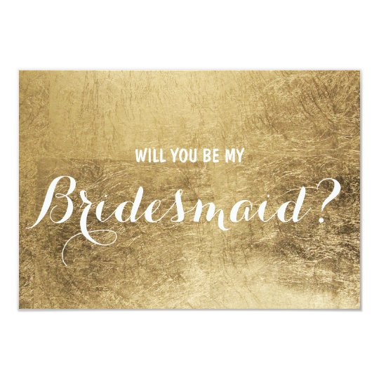 Luxury faux gold leaf Will you be my