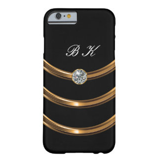 Luxury Faux Gold Monogram Barely There iPhone 6 Case