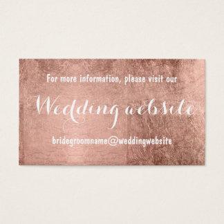 Luxury faux rose gold leaf wedding website