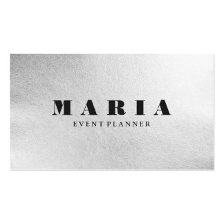 Luxury faux silver black texture chic professional pack of standard business cards
