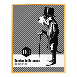 Luxury Fleyer with edge of gold for dog schools 21.5 Cm X 28 Cm Flyer