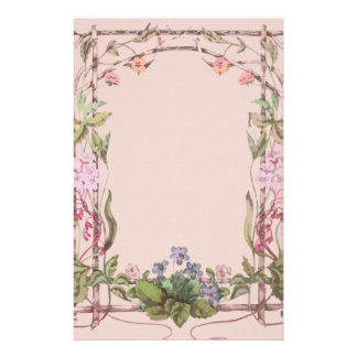 Luxury floral meadow linen stationery