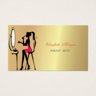 Luxury Girly Elegant ,Woman, Faux Gold ,Makeup Business Card