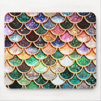 Luxury Glitter Mermaid Scales - Multicolor Mouse Mat