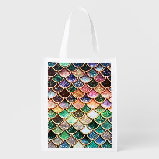 Luxury Glitter Mermaid Scales - Multicolor Reusable Grocery