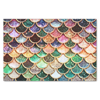 Luxury Glitter Mermaid Scales - Multicolor Tissue Paper