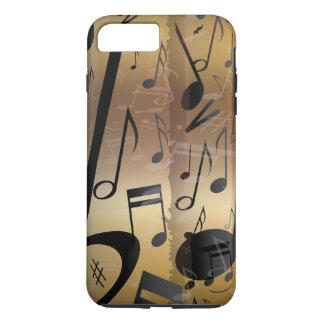 Luxury Gold and Black Music Notes iPhone 7 Plus Case